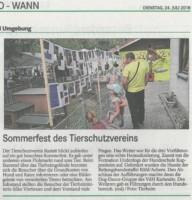 BT Zeitungsbericht TSV Sommerfest Nachlese 24.07.2018