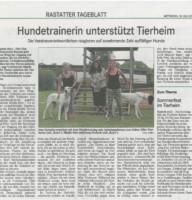 Zeitungsbericht BT 18.07.18 Hudetrainerin TSV Rastatt