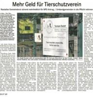 BT Bericht 29.07.20 TSV Mehr Geld für Tierschutzverein
