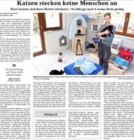 BT Bericht 02.11.2020 Katzen stecken keine Menschen an