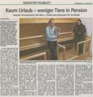 14.01.2021 BT Bericht Kaum Urlaub-weniger Tiere in Pension